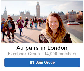 Au pairs in London UK group on Facebook for chat meet forum