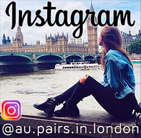 Follow the Au Pairs in London UK Instagram page account