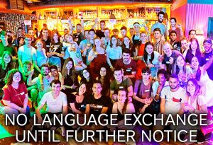 Social language exchange event every Wednesday